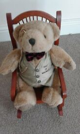 Teddy bear in rocking chair