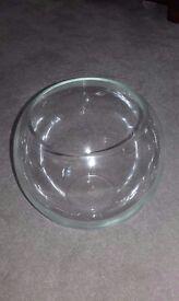 Glass goldfish bowls