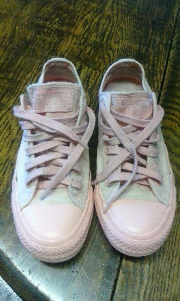 6d40b6ce9cd173 Women s Converse All Star Pastel Mono Ox Pale Pink Trainers