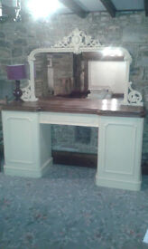 Large decorative side board. Part painted.