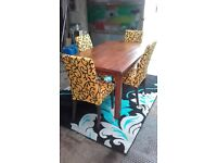 Brand new table bought yesterday + 4 chairs you can take them as well but there not new