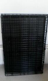 large dog crate used twice!!!