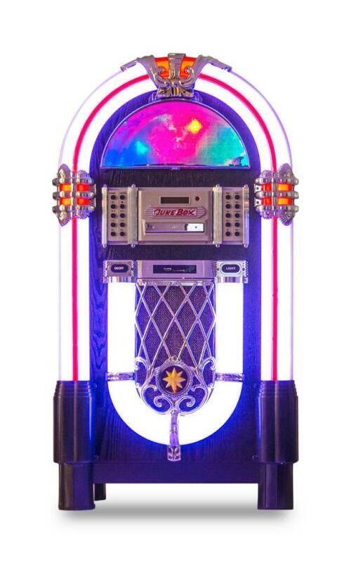 Retro JUKEBOX CD USB AUX MP3 Radio B-tooth Juke box Changes Colors