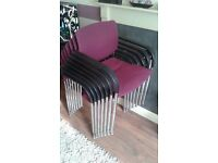 7 stackable chairs