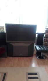 "Toshiba 40"" rear projection tv for sale...50.00 gbp collect from stanwell. Includes remote"