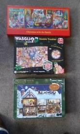 6 Christmas theme jigsaws