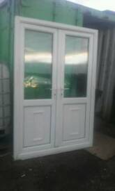 Upvc pvc double glazed French patio doors summer house shed man cave doors