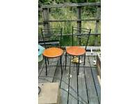 Drop leaf table and 2 chairs