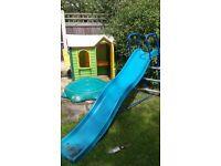 Playhouse, sandpit, slide for sale