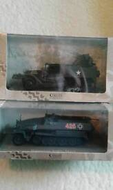 Two Die Cast model Army Vehicles.