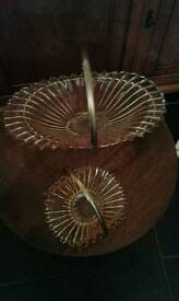 Art Deco glass baskets