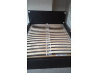 Black bed with light- strong frame