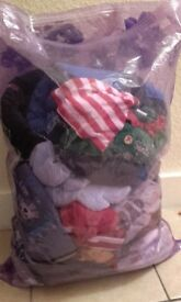 Bag of baby clothes