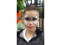 FACE PAINTING children adults HALLOWEEN West London MAKEUP ARTIST painter bridal shoots wedding