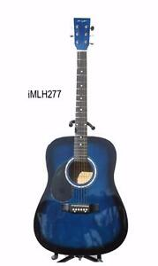 Left handed Acoustic Guitar 41 inch Blue iMLH277