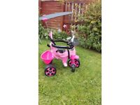 Pink three wheeler bike, VGC, ideal Christmas present.