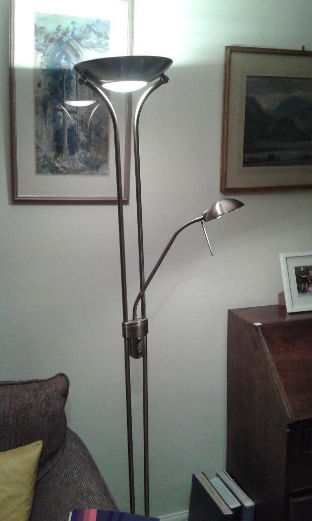 John Lewis Zella Uplighter Floor Lamp, Antique Brass | in Andover ...