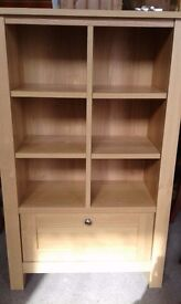 Oak effect shelf unit with drawer lovely condition £48.00