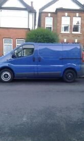 Van and man 25p/h driver helping loading and off loading minimum booking 2hour's