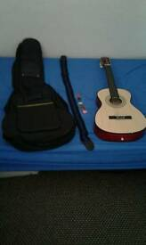 Guitar case,strap,picks,guitar