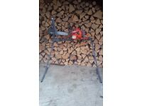 Homemade Log Holder for Chainsaw Metal Chainsaw Log Saw Horse With Holder & Clamp For Sawing Logs