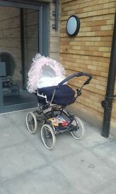 beautiful BEBECAR STYLO £100 w/free baby bouncer
