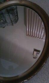 Victorian Brass oval mirror