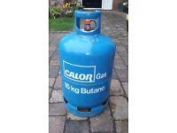 15Kg Blue Calor Butane Cylinder - 1/4 Full (bottle, caravan, camper, motorhome, camping, BBQ)