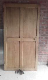 Reclaimed Waxed Small Pine Door