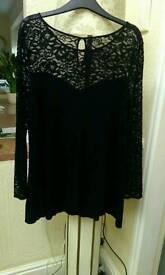 Ladies lace black top