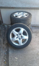 Vauxhall astra 2007 wheels and tyres 5 stud