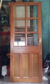 Internal wooden/glazed door
