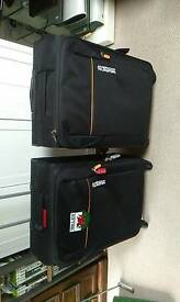 American Tourister four wheel easy push and pull cases