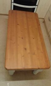 Solid pine farmhouse country style coffee table