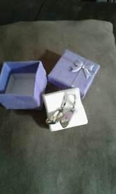 Brand new silver earrings 925
