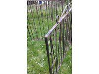 Wrought Iron Hinged Double gates, 2 sets £120 1 set £65