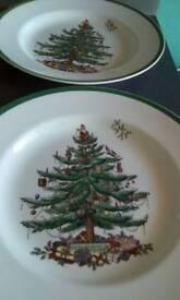 Spode Xmas buffet plates