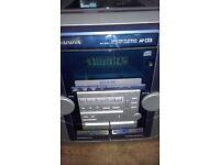AIWA TRIPLE CD / DOUBLE CASSETTE 80WATT MIDI HI-FI SYSTEM (CD TRAY FAULTY) HENCE LOW ASKING PRICE
