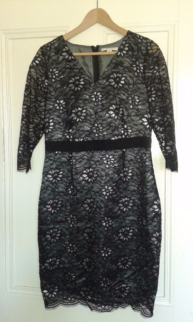 Party dress, wedding dressshoesin Meadows, EdinburghGumtree - Selling black and grey silver party dress, size 8 USA / UK 10 / M £10 Also, selling my wedding dress, size 8 USA / UK 10 / M. Designer Alfred Angelo. £50 Wedding satin shoes, size 9 £5