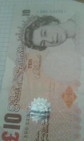 Rare five pounds notes