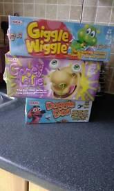 Children's games. Doggie Doo, Gooey Louie, Giggle Wiggle