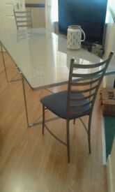 Dining Table Ikea Safety Glass And 2 Chairs
