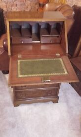 small beautiful wood bureau cabinet fully lockable