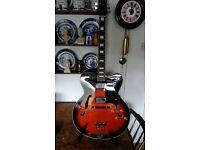 Artisan Chinese brand archtop jazz type cutaway guitar