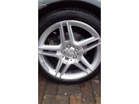 """Mercedes C Class W204 18"""" AMG Alloy wheels with Continental Tyres"""
