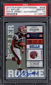 2010 CJ C.J. Spiller Playoff Contenders Auto Autograph Bills RC Rookie PSA 10