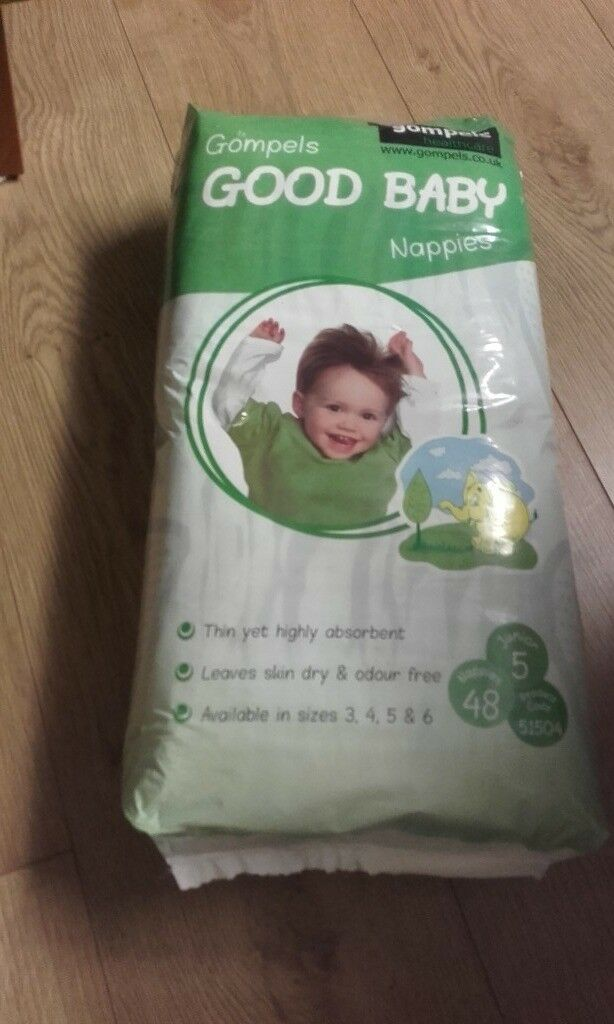 Gompels nappies size junior (11-25kg) 3packs of 48 nappies