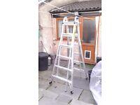 Telescopic combi 22ft ladder