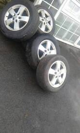 5nearly new.jinyu 205.55.r16.tyres +alli rims of 407 perguut