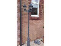 Outdoor lamp post black